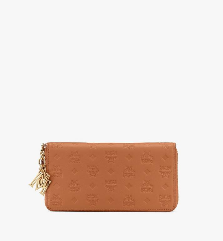 MCM Klara Zip Wallet in Monogram Leather Alternate View
