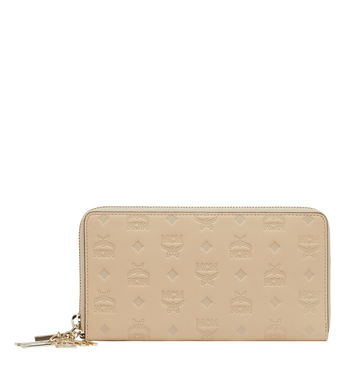 MCM Zip Around Wallet in Monogram Leather Charm Alternate View