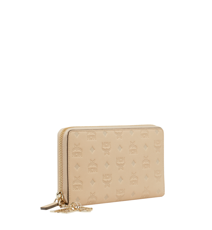 MCM Zip Around Wallet in Monogram Leather Charm Alternate View 2