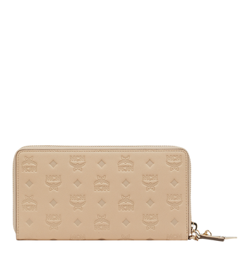 MCM Zip Around Wallet in Monogram Leather Charm Alternate View 3