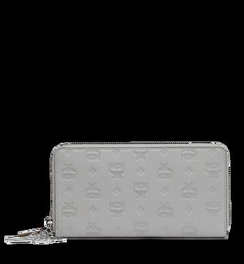 MCM Zip Around Wallet in Monogram Leather Charm Alternate View