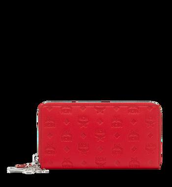 MCM Zip Around Wallet in Monogram Leather Charm MYL9SKM11RJ001 AlternateView