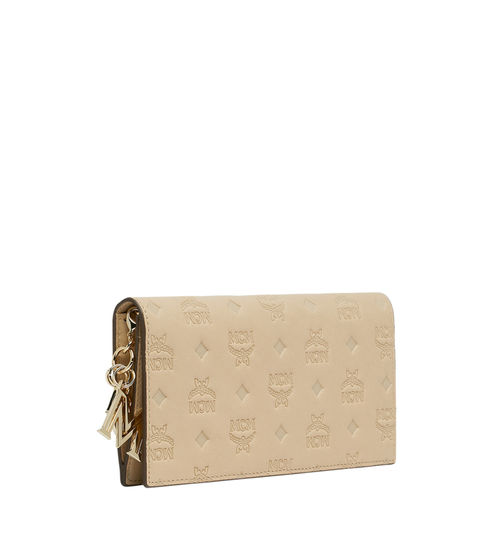 MCM Two Fold Wallet in Monogram Leather Charm Alternate View 2