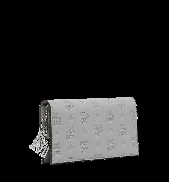 MCM Gefaltete Brieftasche aus Leder mit Monogramm Anhänger Grey MYL9SKM12IV001 Alternate View 2