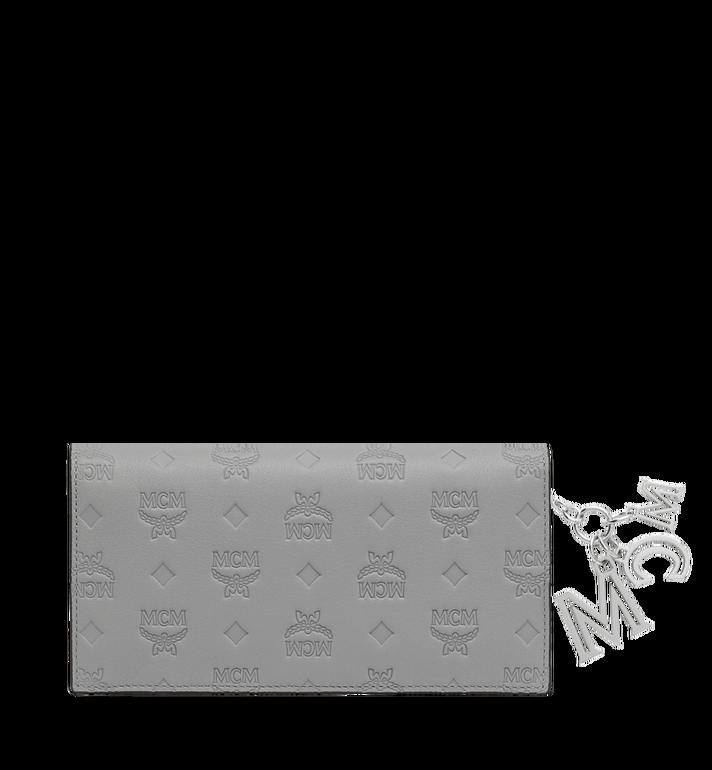 MCM Gefaltete Brieftasche aus Leder mit Monogramm Anhänger Grey MYL9SKM12IV001 Alternate View 3