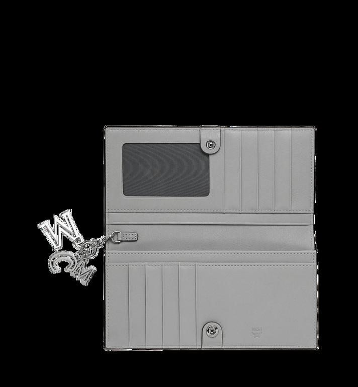 MCM Gefaltete Brieftasche aus Leder mit Monogramm Anhänger Grey MYL9SKM12IV001 Alternate View 4