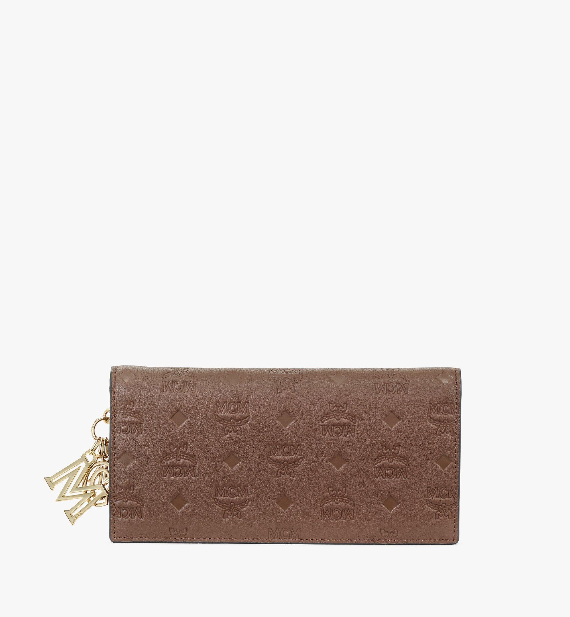 MCM Klara Continental Wallet in Monogram Leather Brown MYL9SKM12N5001 Alternate View 1