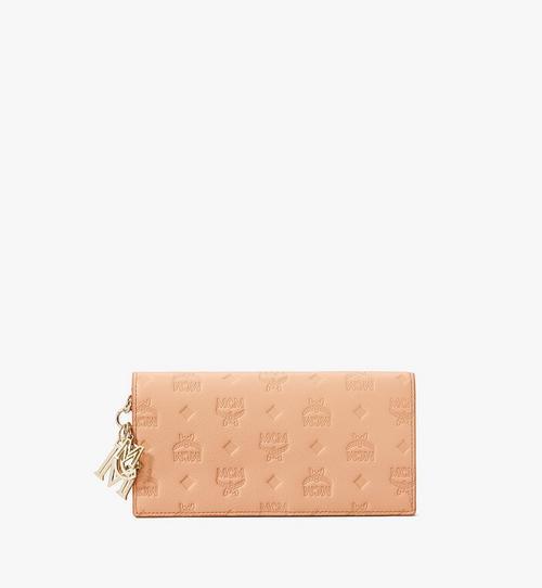 Klara Brieftasche aus Leder mit Monogramm