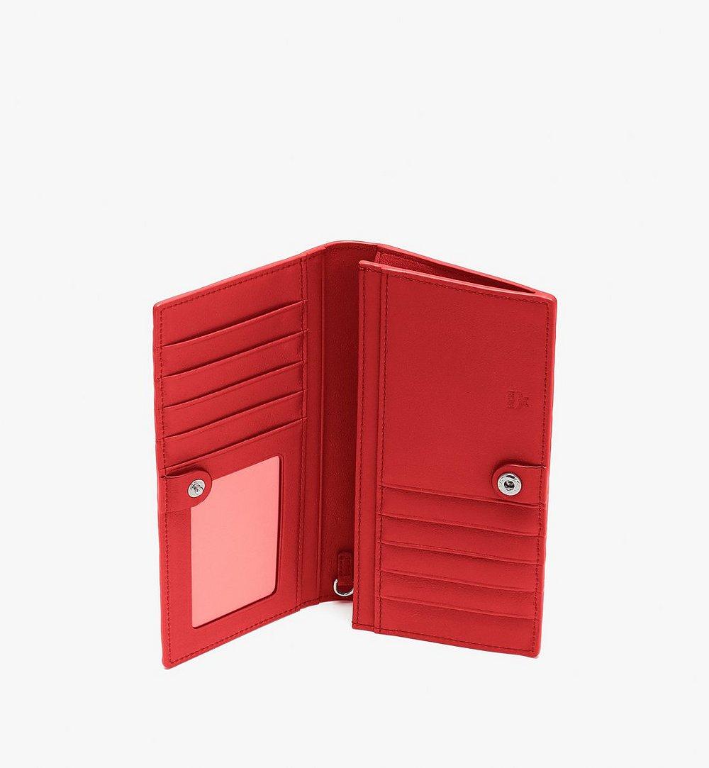 MCM Klara Two Fold Wallet in Monogram Leather Red MYL9SKM12O3001 Alternate View 2