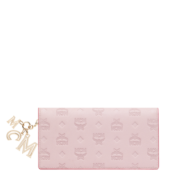MCM Two Fold Wallet in Monogram Leather Charm Alternate View