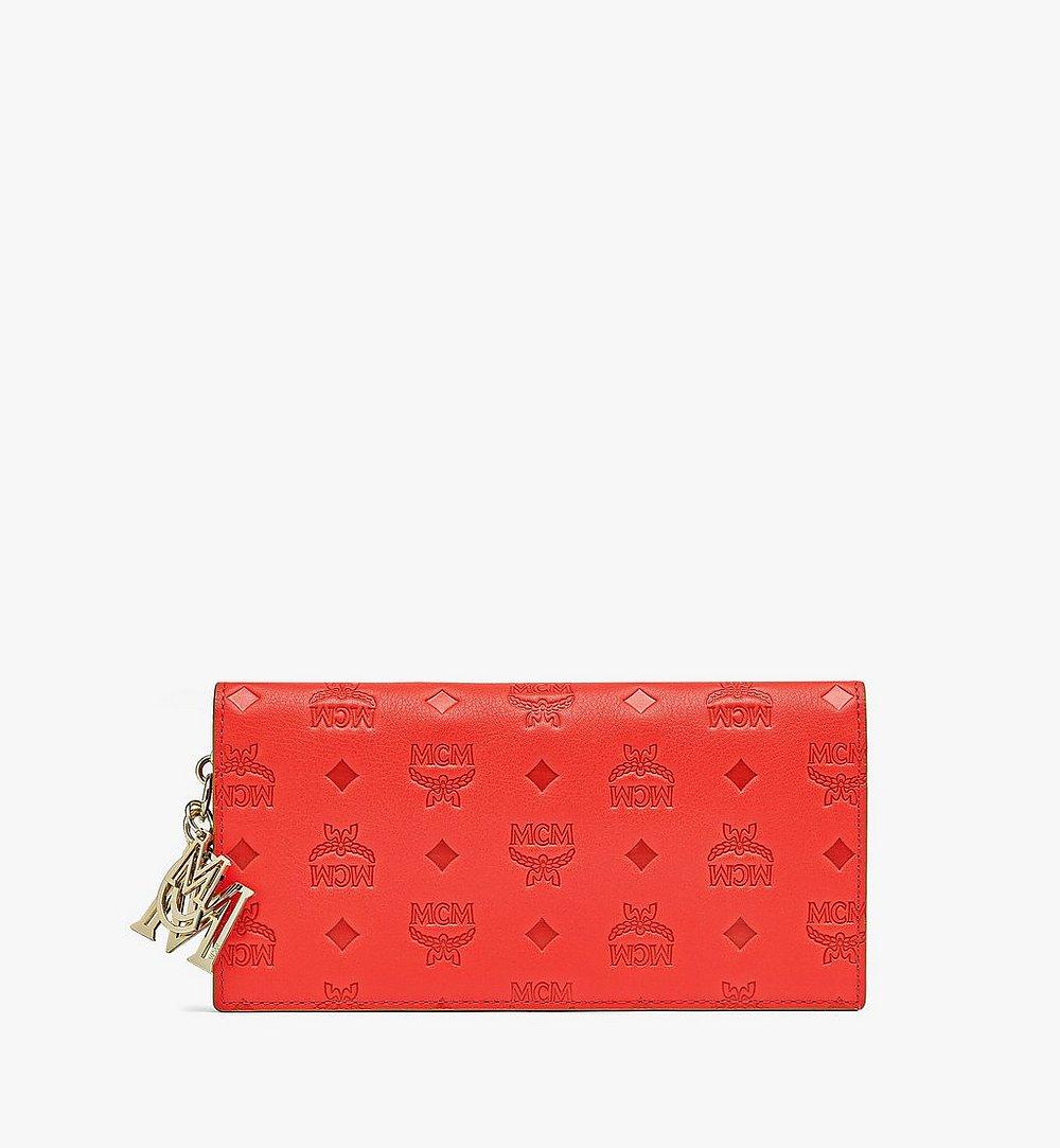 MCM Klara Continental Wallet in Monogram Leather Red MYL9SKM12R8001 Alternate View 1