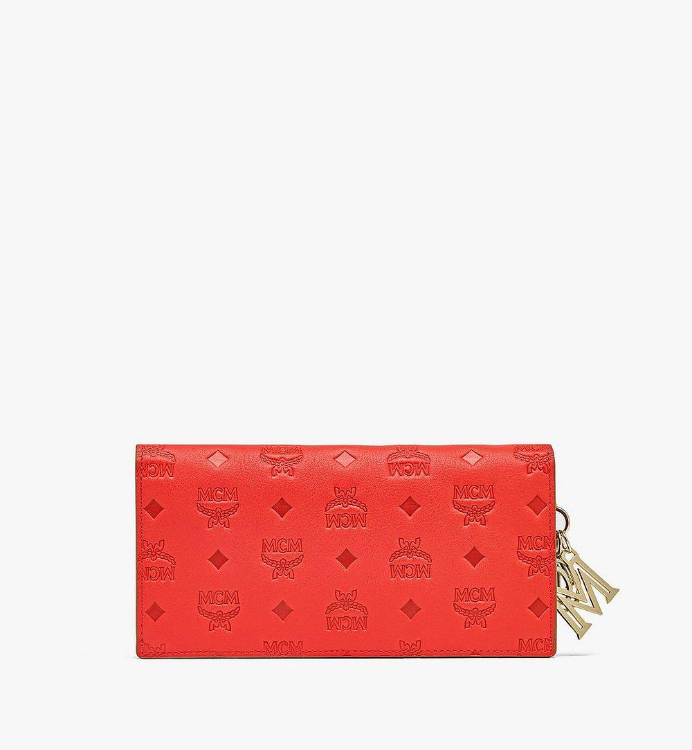 MCM Klara Continental Wallet in Monogram Leather Red MYL9SKM12R8001 Alternate View 2
