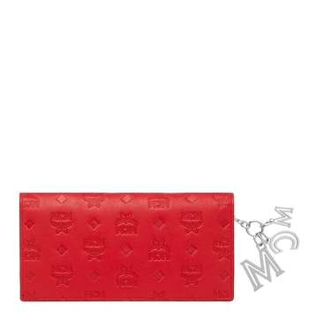 MCM Two Fold Wallet in Monogram Leather Charm Alternate View 3