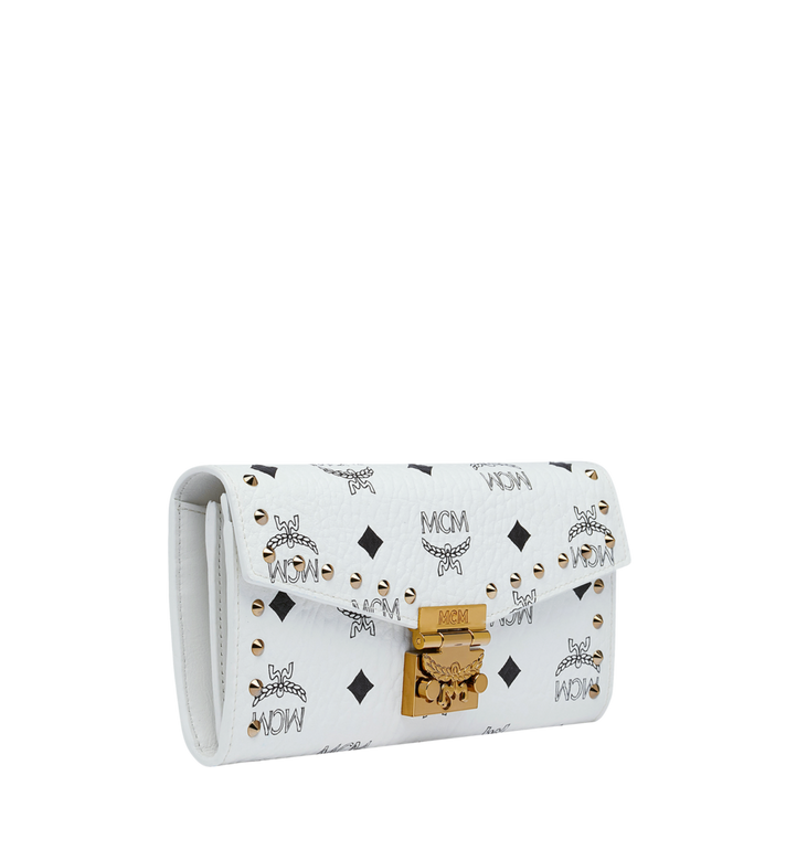 MCM Patricia Two-Fold Wallet in Studded Visetos Alternate View 2