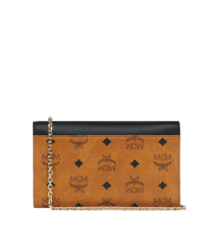MCM Patricia Wallet and Card Case in Visetos Leather Block MYL9SPA32CB001 AlternateView4