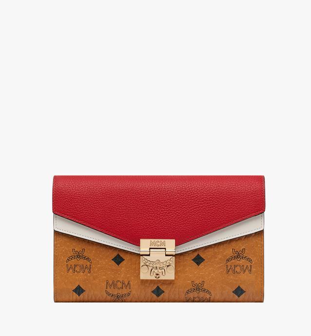 Portefeuille et porte-cartes Patricia en Visetos Leather Block