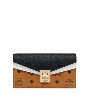 MCM Patricia Crossbody Wallet in Visetos Leather Block Alternate View