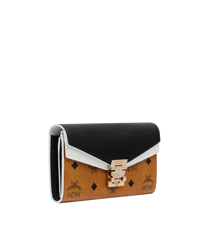 48e489bc78f0 MCM Patricia Crossbody Wallet in Visetos Leather Block AlternateView2