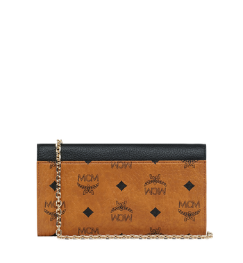 MCM Patricia Crossbody Wallet in Visetos Leather Block Alternate View 3