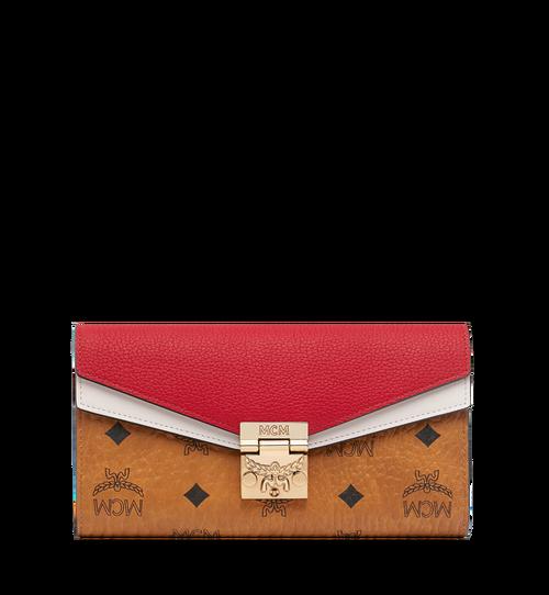 Patricia Crossbody Wallet in Visetos Leather Block