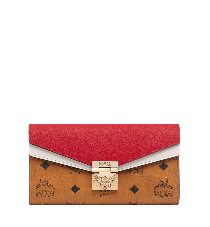MCM Patricia Crossbody Wallet in Visetos Leather Block AlternateView