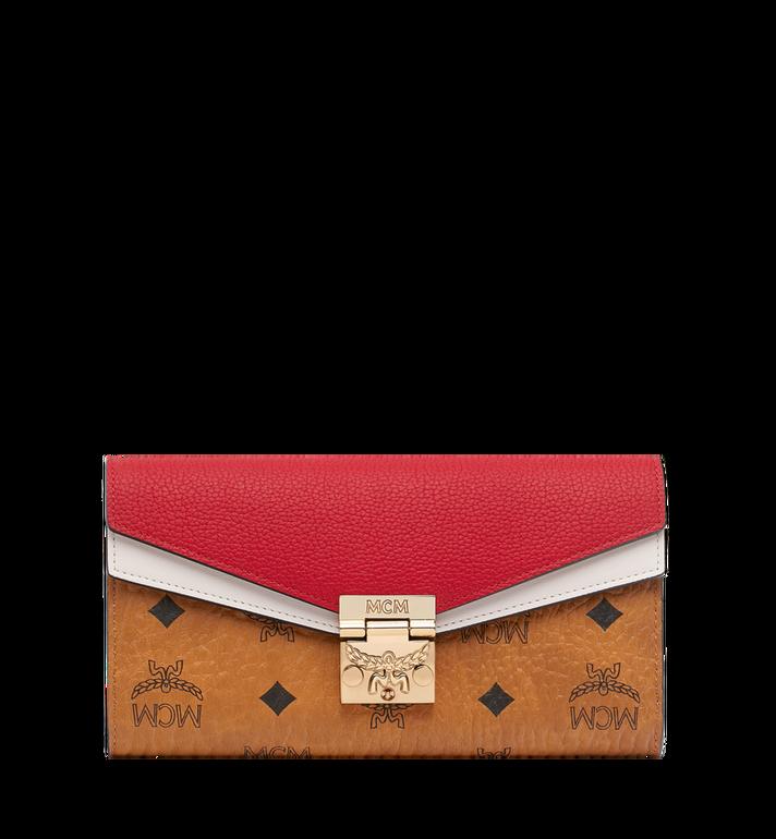 MCM Patricia Crossbody Wallet in Visetos Leather Block Alternate View