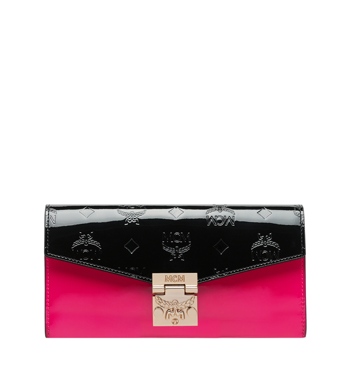 MCM Patricia Crossbody Wallet in Monogram Patent Leather AlternateView