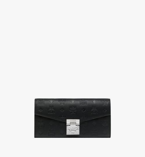 Portefeuille porté épaule Patricia en cuir monogrammé