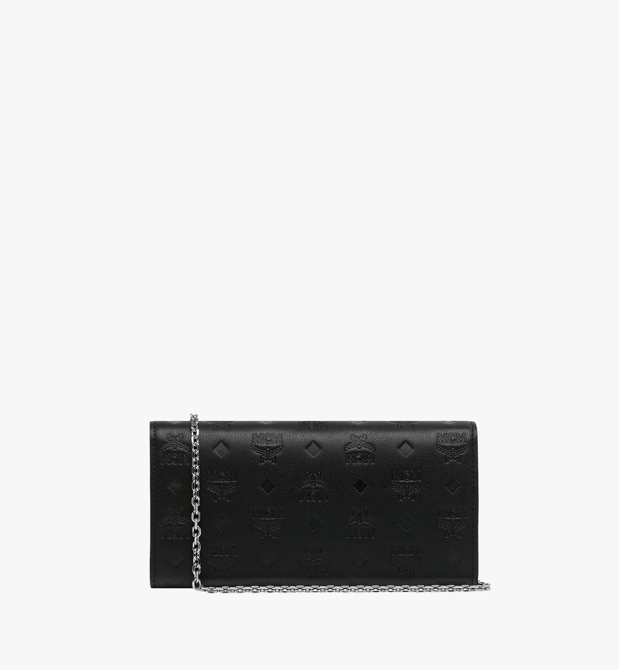 MCM Patricia Crossbody Wallet in Monogram Leather Black MYL9SPA55BK001 Alternate View 3