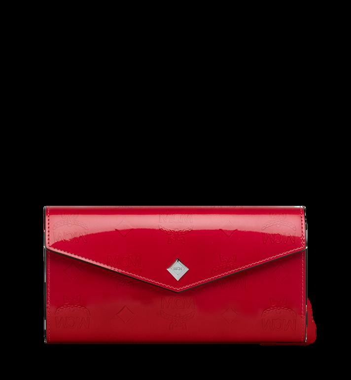 MCM Gefaltete Brieftasche aus Lackleder mit Monogramm Alternate View