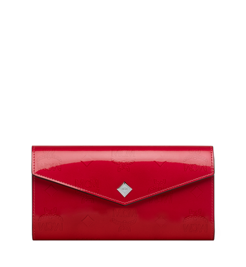 Two-Fold Wallet in Monogram Patent Leather