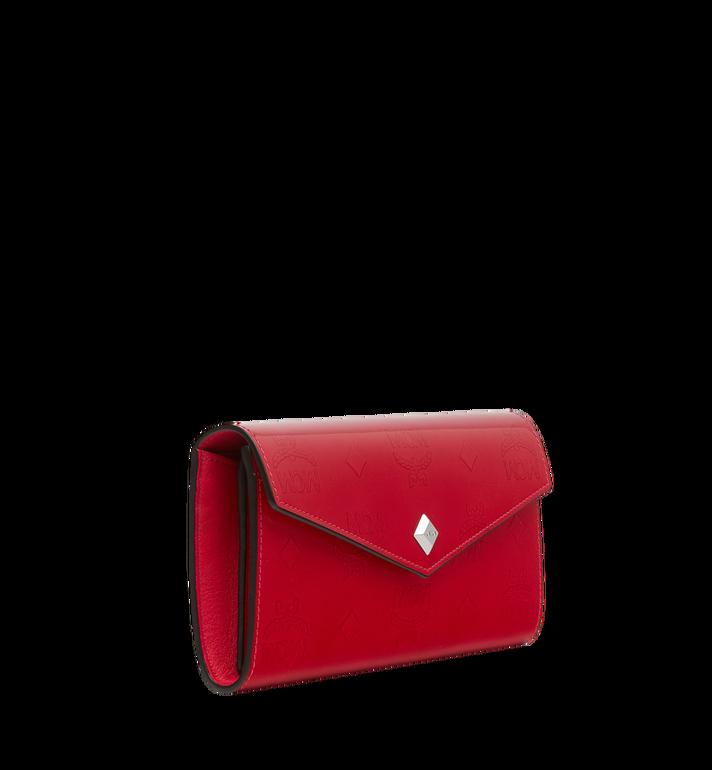 MCM Portefeuille à deux volets en cuir verni monogrammé Red MYL9SPM01UF001 Alternate View 2