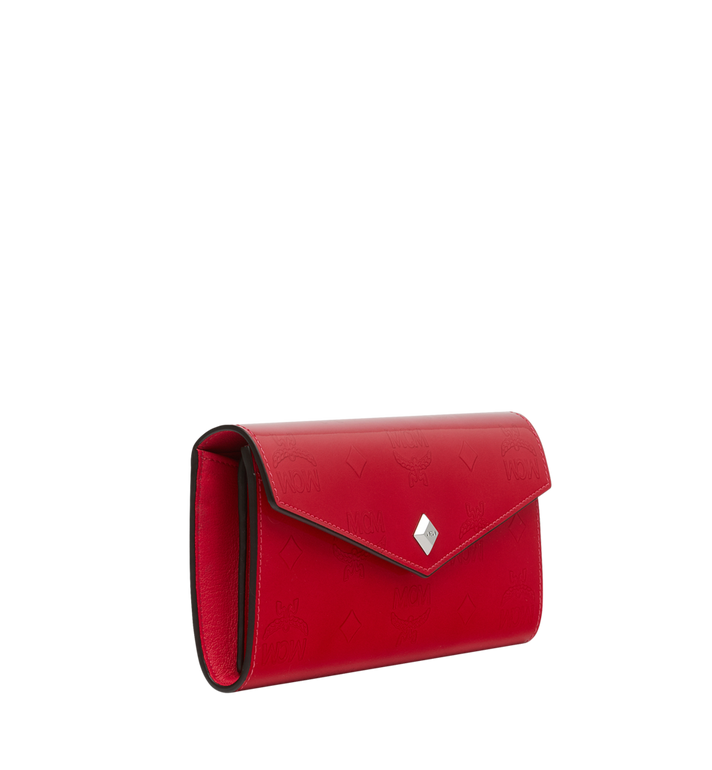 MCM Two-Fold Wallet in Monogram Patent Leather Red MYL9SPM01UF001 Alternate View 2