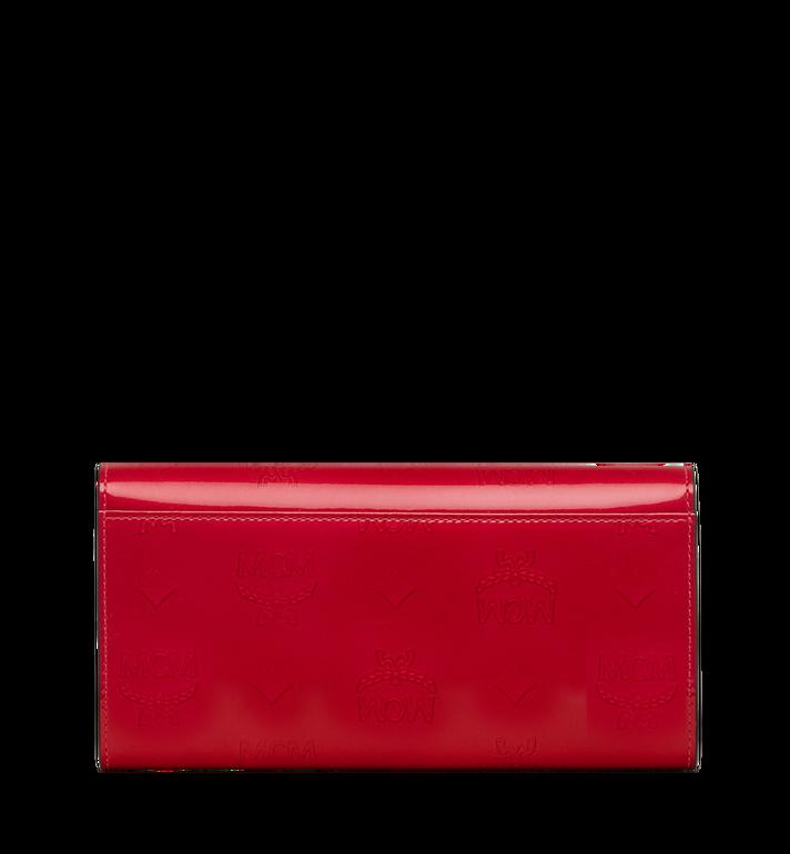 MCM Gefaltete Brieftasche aus Lackleder mit Monogramm Red MYL9SPM01UF001 Alternate View 3