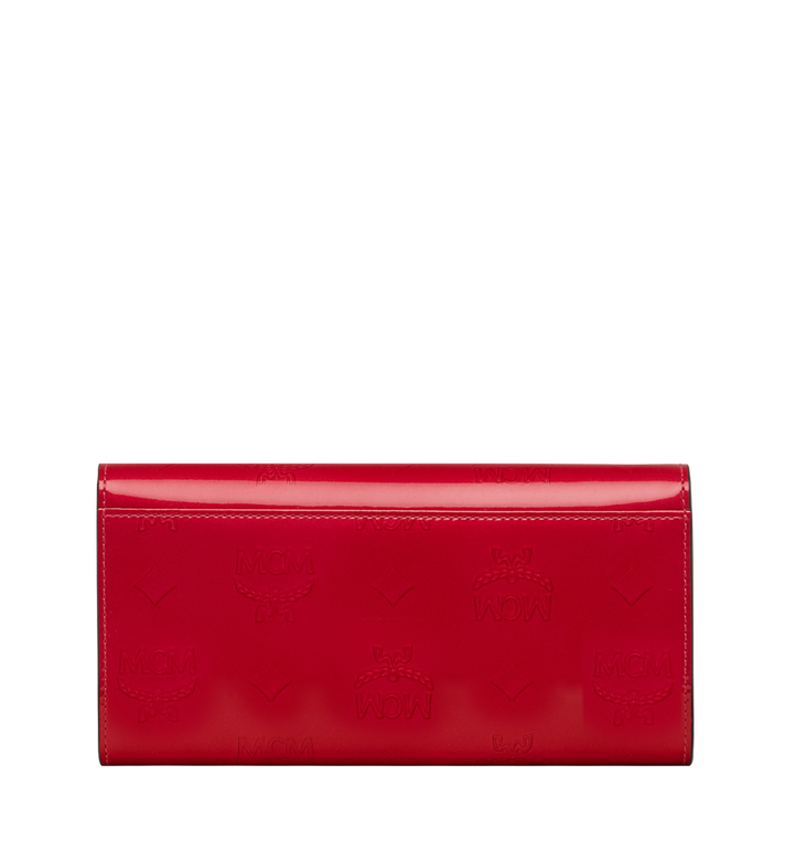 MCM Two-Fold Wallet in Monogram Patent Leather Red MYL9SPM01UF001 Alternate View 3