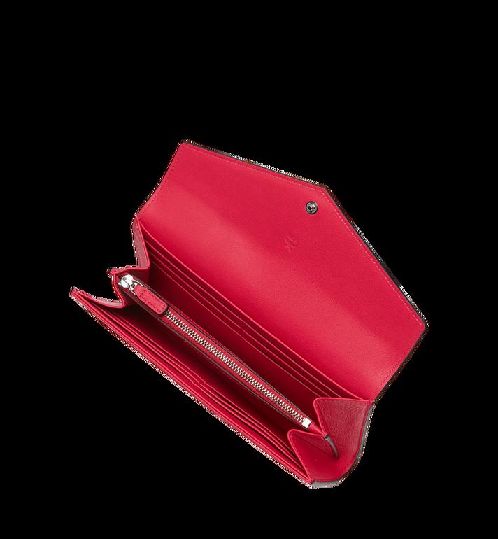 MCM Portefeuille à deux volets en cuir verni monogrammé Red MYL9SPM01UF001 Alternate View 4