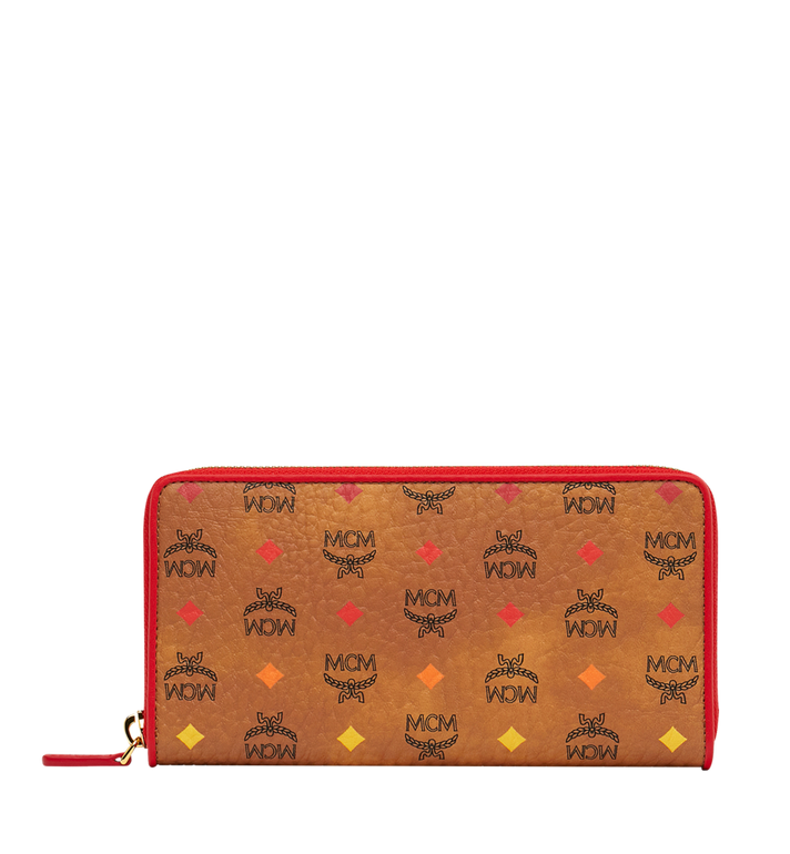 MCM Zip Around Wallet in Skyoptic Visetos AlternateView