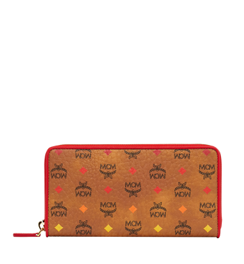 MCM Zip Around Wallet in Skyoptic Visetos AlternateView1