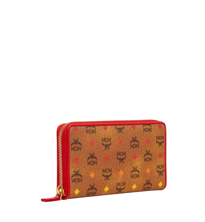 MCM Zip Around Wallet in Skyoptic Visetos AlternateView2