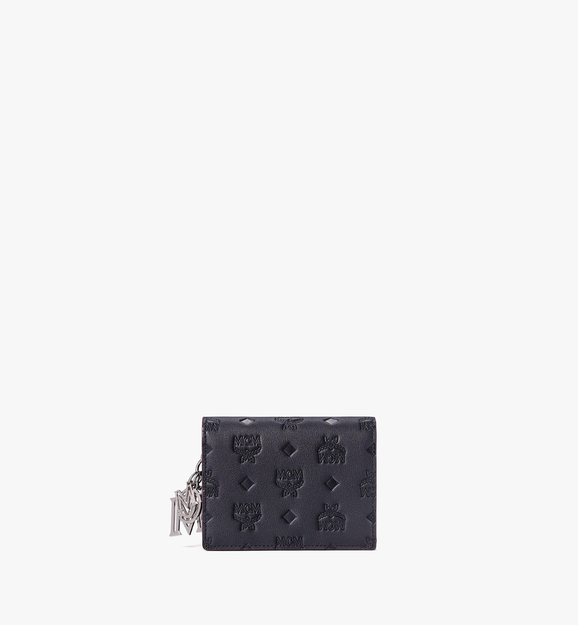 MCM Klara Chain Wallet in Monogram Leather Black MYLAAKM02BK001 Alternate View 1