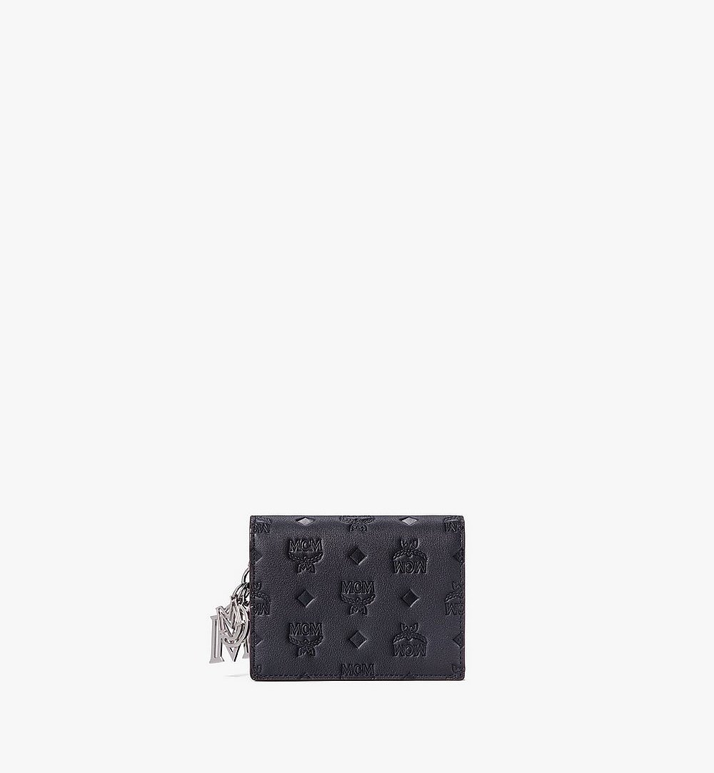 MCM Klara Crossbody-Brieftasche aus Leder mit Monogramm Black MYLAAKM02BK001 Noch mehr sehen 1