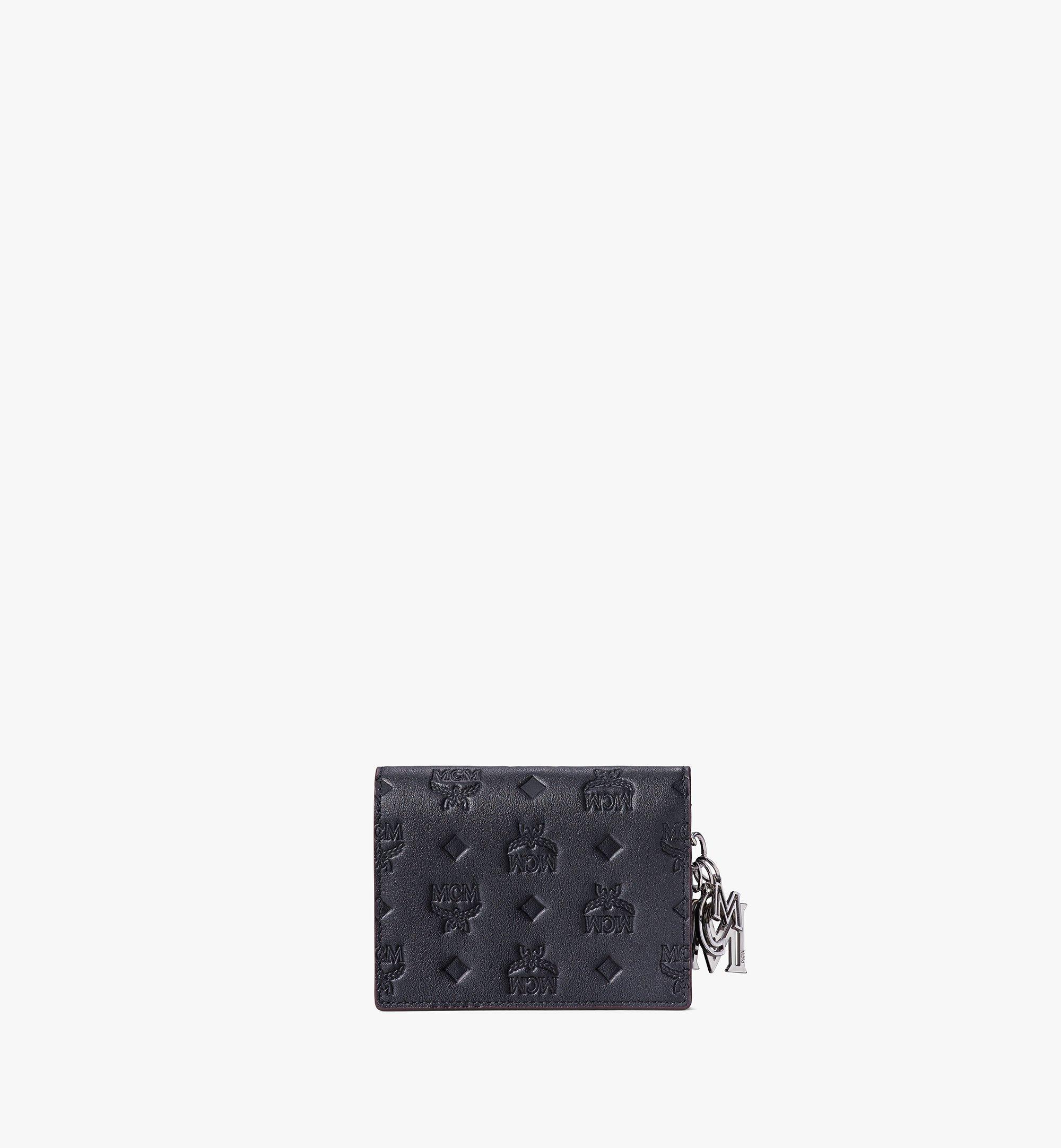 MCM Klara Chain Wallet in Monogram Leather Black MYLAAKM02BK001 Alternate View 2