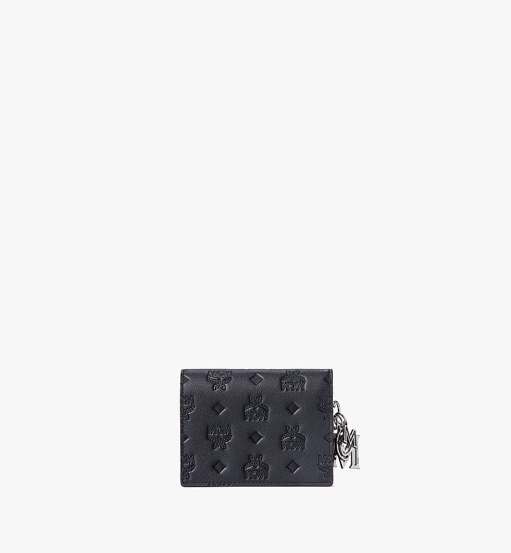 MCM Klara Crossbody-Brieftasche aus Leder mit Monogramm Black MYLAAKM02BK001 Noch mehr sehen 2