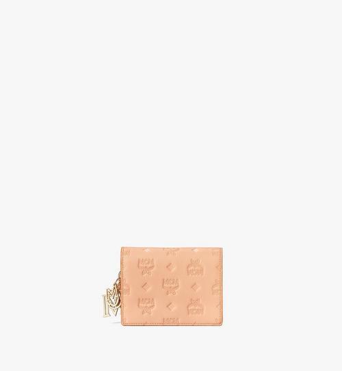 Portefeuille à bandoulière chaîne Klara en cuir monogrammé