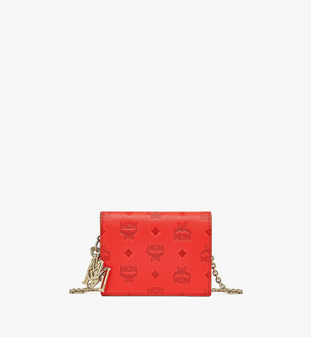 MCM Klara Crossbody Wallet in Monogram Leather Red MYLAAKM02R8001 Alternate View 1