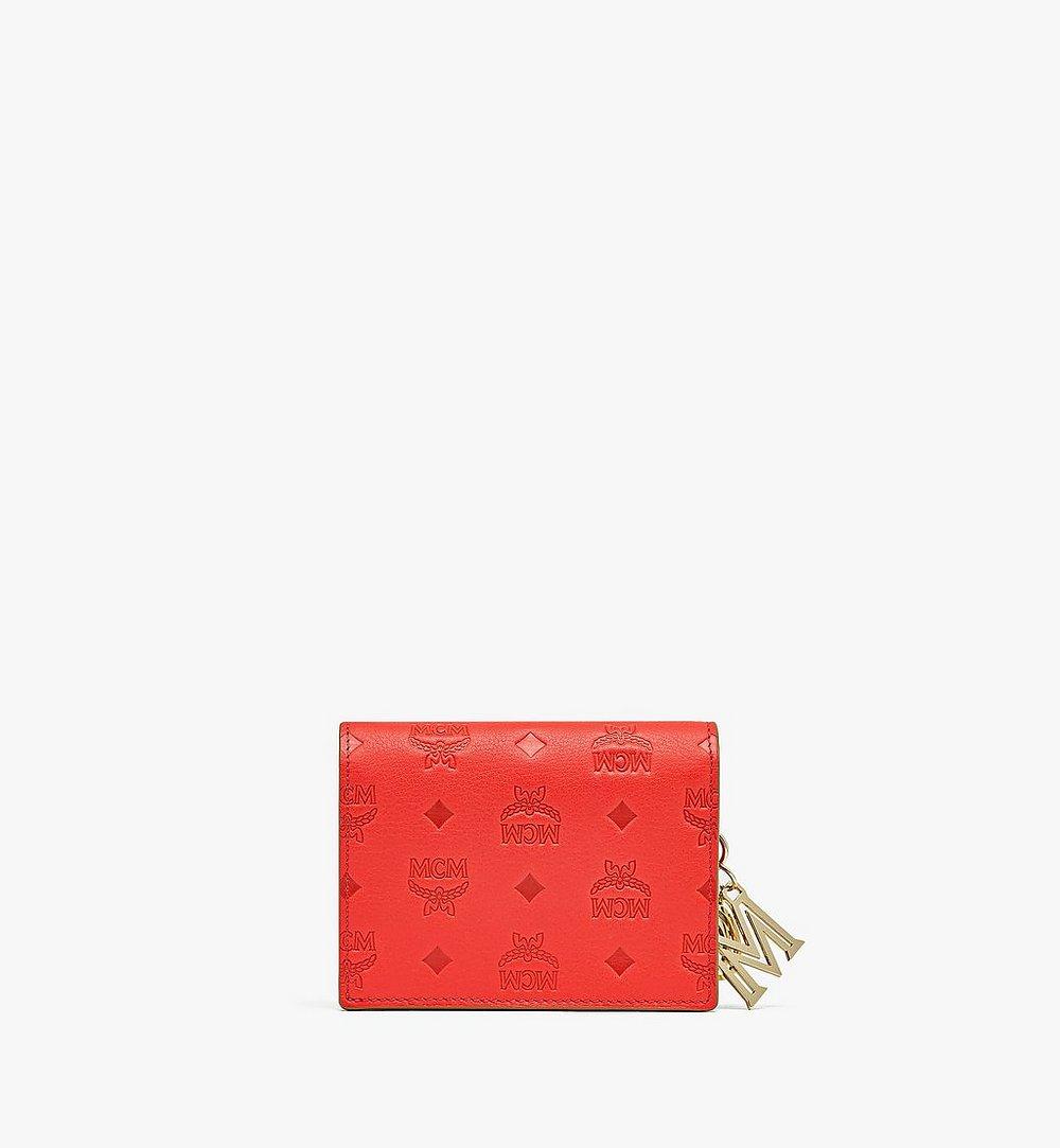 MCM 클라라 모노그램 레더 체인 지갑 Red MYLAAKM02R8001 다른 각도 보기 2