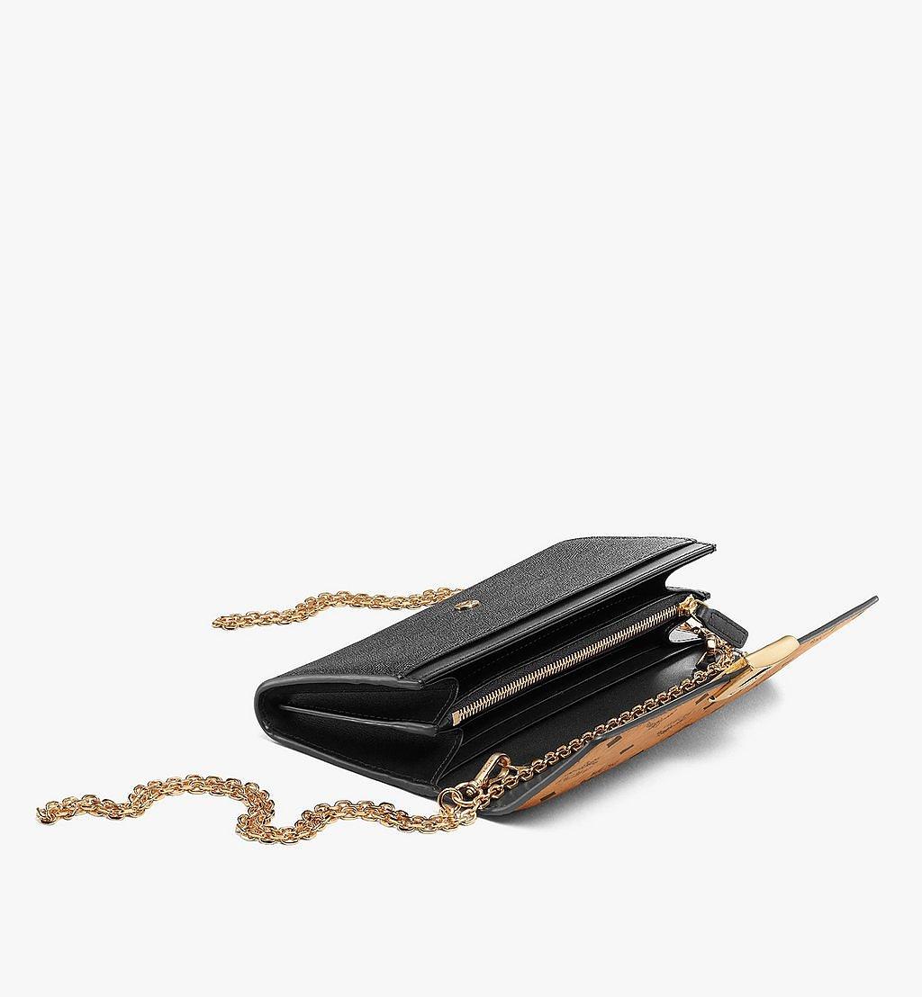 MCM Mena Crossbody Wallet in Visetos Leather Block Black MYLAALM03BK001 Alternate View 1