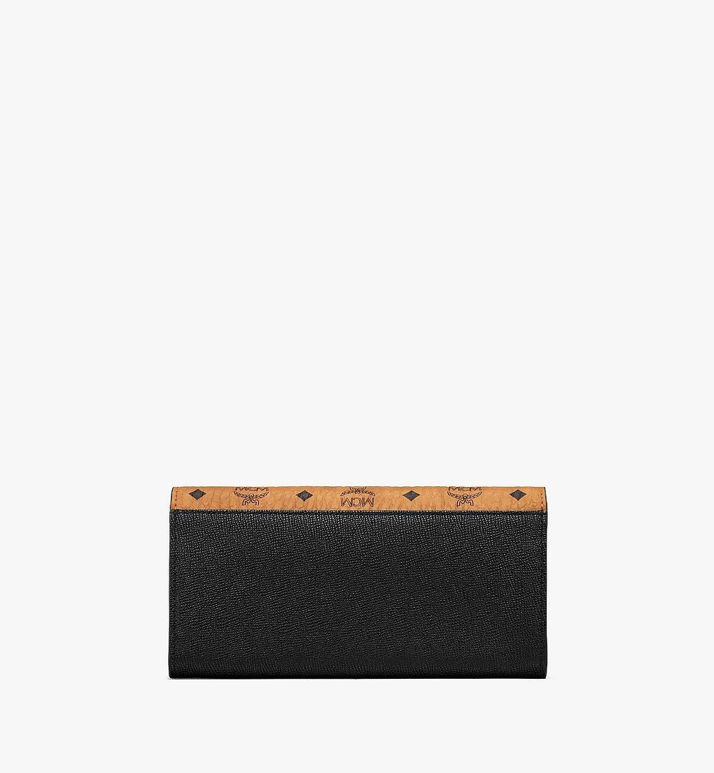 MCM Mena Crossbody Wallet in Visetos Leather Block Black MYLAALM03BK001 Alternate View 2