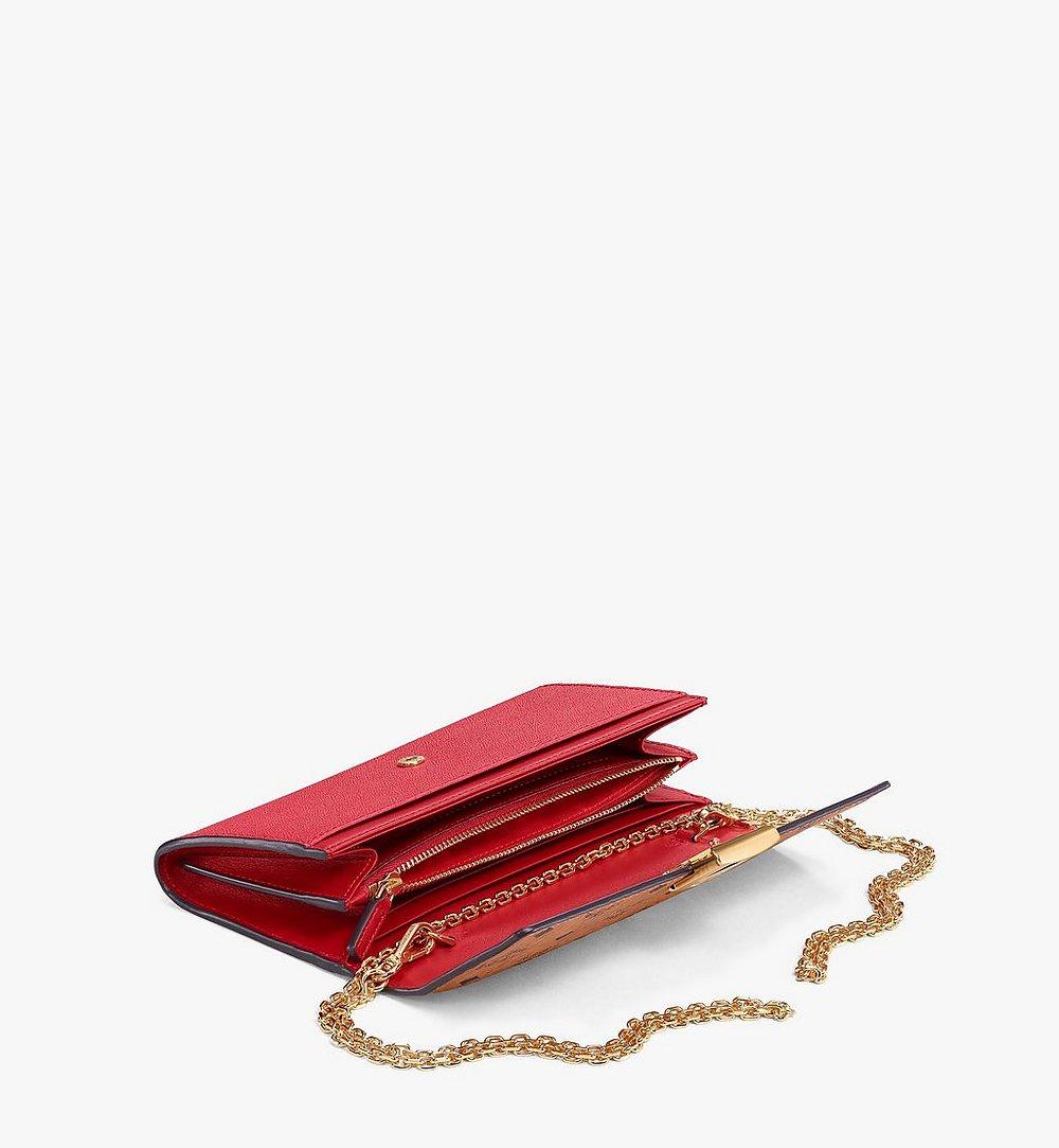 MCM Mena Crossbody Wallet in Visetos Leather Block Red MYLAALM03RU001 Alternate View 1