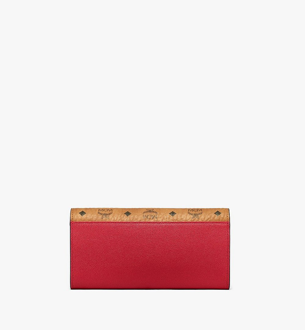MCM Mena Crossbody Wallet in Visetos Leather Block Red MYLAALM03RU001 Alternate View 2